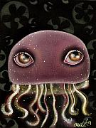 Outsider Art Painting Prints - Jellyfish Print by  Abril Andrade Griffith