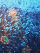 Acryllic  Paintings - Jellyfish Delight by Tammy Garren