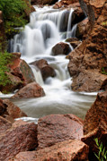 Rushing Water Prints - Jemez Springs Print by Eddie Yerkish