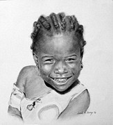 Haiti Drawings - Jenna - Haiti by Leah Hopkins Henry