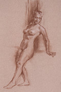 Nudes Drawings Originals - Jenna by Peggi Habets