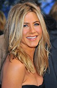 Natural Makeup Photo Posters - Jennifer Aniston At Arrivals For Just Poster by Everett