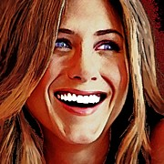 Actress Mixed Media Prints - Jennifer Aniston Portrait A Print by Andre Drauflos