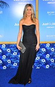 Evening Dress Framed Prints - Jennifer Aniston Wearing A Dolce Framed Print by Everett