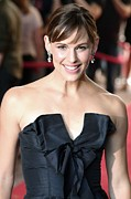 Strapless Dress Framed Prints - Jennifer Garner At Arrivals For Juno Framed Print by Everett