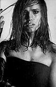 Real Drawings - Jennifer Garner by Jennifer Bryant