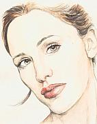 Actress Mixed Media Metal Prints - Jennifer Garner Metal Print by Morgan Fitzsimons