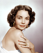 Gold Earrings Acrylic Prints - Jennifer Jones, Ca. Early 1950s Acrylic Print by Everett