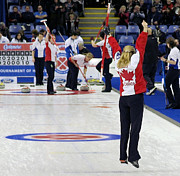 Scotties Photos - Jennifer Jones The Winner by Lawrence Christopher