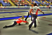 Tournament Prints - Jennifer Jones Throws Print by Lawrence Christopher