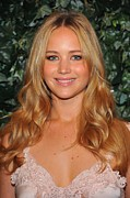 Four Seasons Hotel Framed Prints - Jennifer Lawrence At Arrivals For Qvc Framed Print by Everett