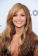 Lip Gloss Photo Posters - Jennifer Lopez At Arrivals For Apollo Poster by Everett