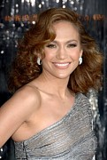 Curled Hair Prints - Jennifer Lopez At Arrivals For The Print by Everett