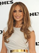 2010s Makeup Metal Prints - Jennifer Lopez Wearing A Gucci Dress Metal Print by Everett