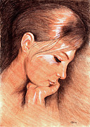 Color Pencil Drawings - Jenny by Hakon Soreide