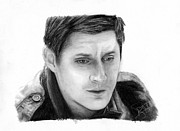 Supernatural Drawings - Jensen Ackles by Rosalinda Markle