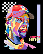 Champion Digital Art - Jenson Button Pop Art Style by Jim Bryson