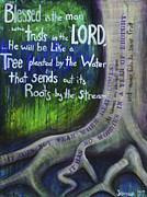 Drips Paintings - Jeremiah 17 by Taylor Ann Roberts-White
