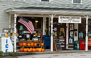 Country Store Drawings Framed Prints - Jericho Center Country Store Framed Print by Diane E Berry