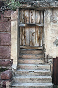 Old Doors Framed Prints - Jerome Door Framed Print by Ellen Henneke