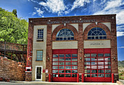 Jerome Prints - Jerome Fire Department Print by Saija  Lehtonen