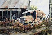 Ford Paintings - Jeromes Tank Truck by Sam Sidders