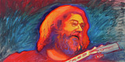 Musician Greeting Cards Paintings - Jerry 4 by Pam Baker