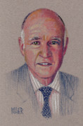 Politics Pastels - Jerry Brown by Donald Maier