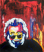 Jerry Garcia Band Prints - Jerry Garcia Print by Ann Marie Napoli