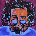 Heads Painting Framed Prints - Jerry Garcia-Its A Me Thing Framed Print by Bill Manson
