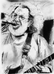 Dead Heads Drawings - Jerry Garcia by Jason Kasper