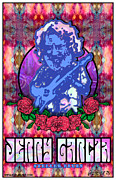 British Invasion Framed Prints - Jerry Garcia Framed Print by John Goldacker