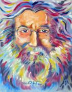 Hall Of Fame Framed Prints - Jerry Garcia Framed Print by Joseph Palotas