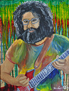 Jerry Garcia Band Prints - Jerry Garcia Print by Michael Lee