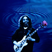 Concert Digital Art - Jerry Garcia Ripple Rose by Ben Upham