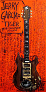The Tiger Painting Framed Prints - Jerry Garcia Tiger Framed Print by Karl Haglund