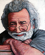 Rockstar Framed Prints - Jerry Garcia Framed Print by Tom Roderick