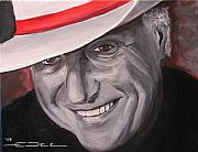 Musician Portrait Painting Originals - Jerry Jeff Walker by Eric Dee