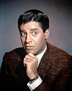 1950s Portraits Posters - Jerry Lewis, 1950s Poster by Everett