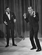 Suit And Tie Framed Prints - Jerry Lewis, And Ed Sullivan, Circa Framed Print by Everett
