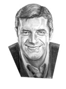 Famous People Drawings - Jerry Lewis by Murphy Elliott