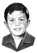 Portrait Drawing Framed Prints - Jerry Mathers-as the Beaver-Murphy Elliott Framed Print by Murphy Elliott