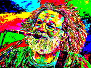 Singer Painting Prints - Jerry Print by Mike OBrien