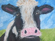 Steer Paintings - Jerry by Nancy Irizarry
