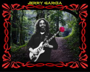 Jerry Garcia Band Prints - Jerry Road Rose 3 Print by Ben Upham