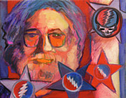 Musician Greeting Cards Paintings - Jerry3 by Pam Baker