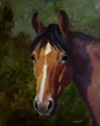 Horse Paintings - Jerrys Dirty Sox Roan Horse Painting by Kim Corpany