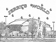 Dallas Digital Art Metal Prints - Jerrys World Metal Print by David Williams