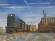 Train Paintings - Jersey Central Lines by Christopher Jenkins