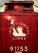 Old Trains Posters - Jersey Central Lines Poster by Colleen Kammerer